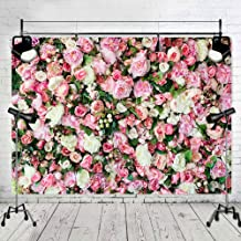 Ornamental Curvy Leaf Photo Background for Photo Booth Studio Props 6x6FT Vinyl Photography Backdrop,Floral