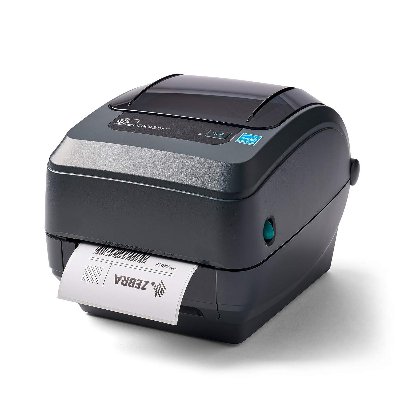 ZEBRA GX430t Thermal Transfer Desktop Printer Print Width of 4 i