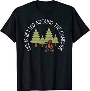Retro Life is Better Around the Campfire Camp Graphic T-Shirt