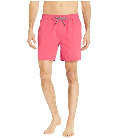 Reyn Spooner Solid Swim Trunks (Tomato Puree) Men