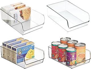 mDesign bac de rangement pratique (lot de 4) – bac alimentaire en plastique pour canettes, conserves, etc. – organiseur de...