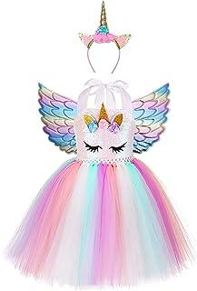 فستان حفلات الأميرة سيمبلك، فستان يونيكورن لحفلات أعياد الميلاد مع عصابة رأس مقاس 4T 5T 6T 7T 8T 9T 10T