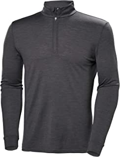 Helly Hansen Men's Merino Wool Mid 1/2 Zip Baselayer Top