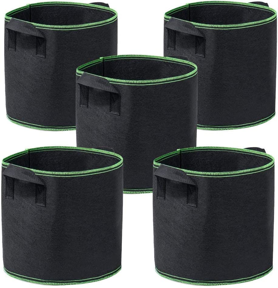 Garden4Ever 5-Pack 5 Gallon Philadelphia Mall Grow Heavy Thick Duty Container 4 years warranty Bags