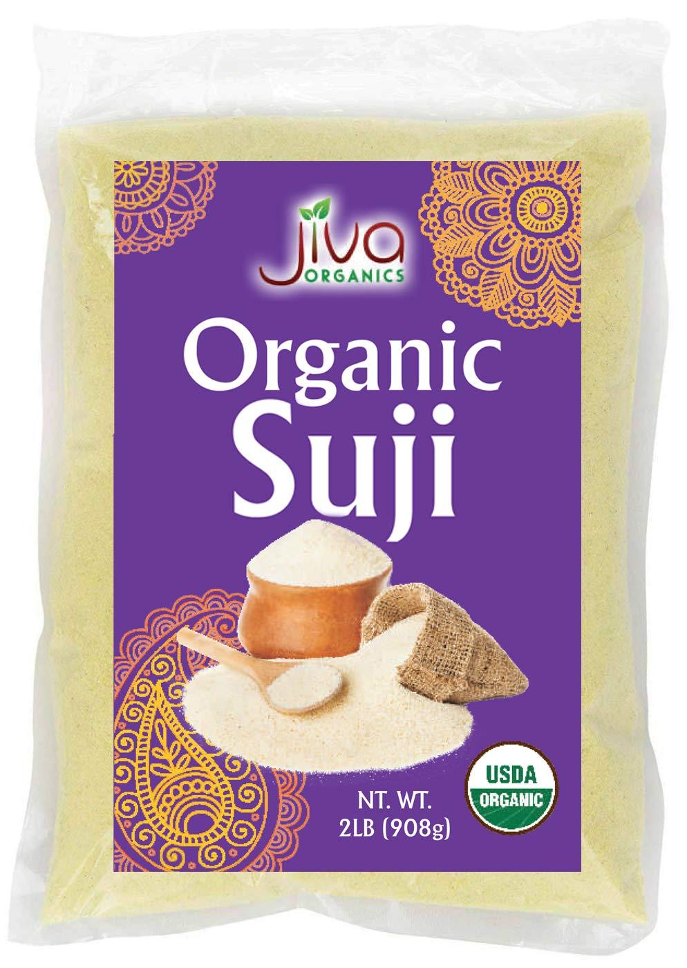 Jiva Organics Organic Suji (Farina) - 2 Pound (32oz) - Wheat, Ra