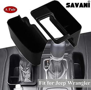 Gear Shifter Box Center Console Storage Automatic Transmission Side Organizer Tray Interior Accessories for 2018-2020 Jeep Wrangler JL JLU & 2020 Gladiator JT