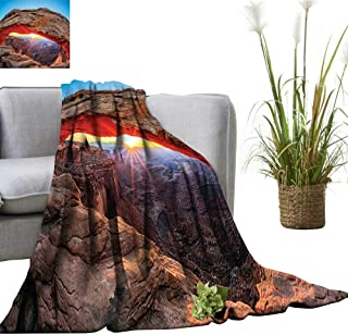 YOYI Blanket as Bedspread at Arch in Cany Lands Park Utah USA Landmark Cozy and Durable Fabric-Machine 60