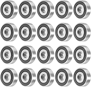 uxcell 638RS 8mmx28mmx9mm Double Sealed Miniature Deep Groove Ball Bearing 20pcs