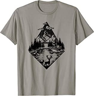 Cabin in the Woods No.1 at Forest Lake Beautiful Nature T-Shirt