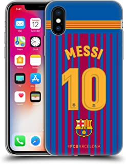 Official FC Barcelona Messi 2017/18 Players Home Kit Group 1 Soft Gel Case Compatible for iPhone X/iPhone Xs
