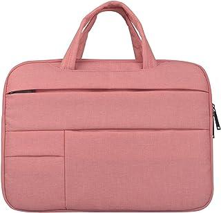Djyyh Laptop Handbag Briefcase Handbag Oxford Cloth Satchel Bag Tablet Bussiness Carrying Sleeve Case Protector for Lady Men (Color : Pink, Size : 12inch)