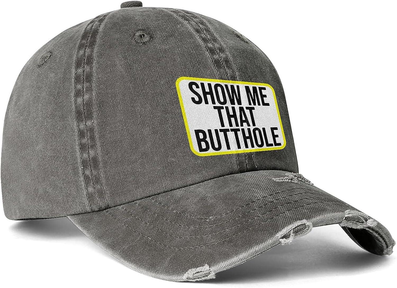 LGBTQ Rainbow Show Me That Butthole Trucker Hat for Men Women Flat Bill Cap