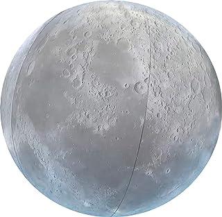 Pelota Inflable de Playa y para Piscina Grande 40cm - Calidad Alta - Estilo Luna Constelaciones Estrellas Espacio Universo Azul Marino- Melquiades Original