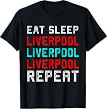 Liverpool Eat Sleep Liverpool England Vintage Fan Gift T-Shirt