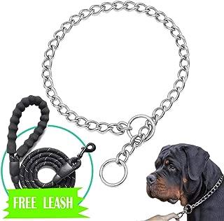 Mayerzon Stainless Steel Dog Choke Chain Collar, Pet Training P Chain Slip Collar