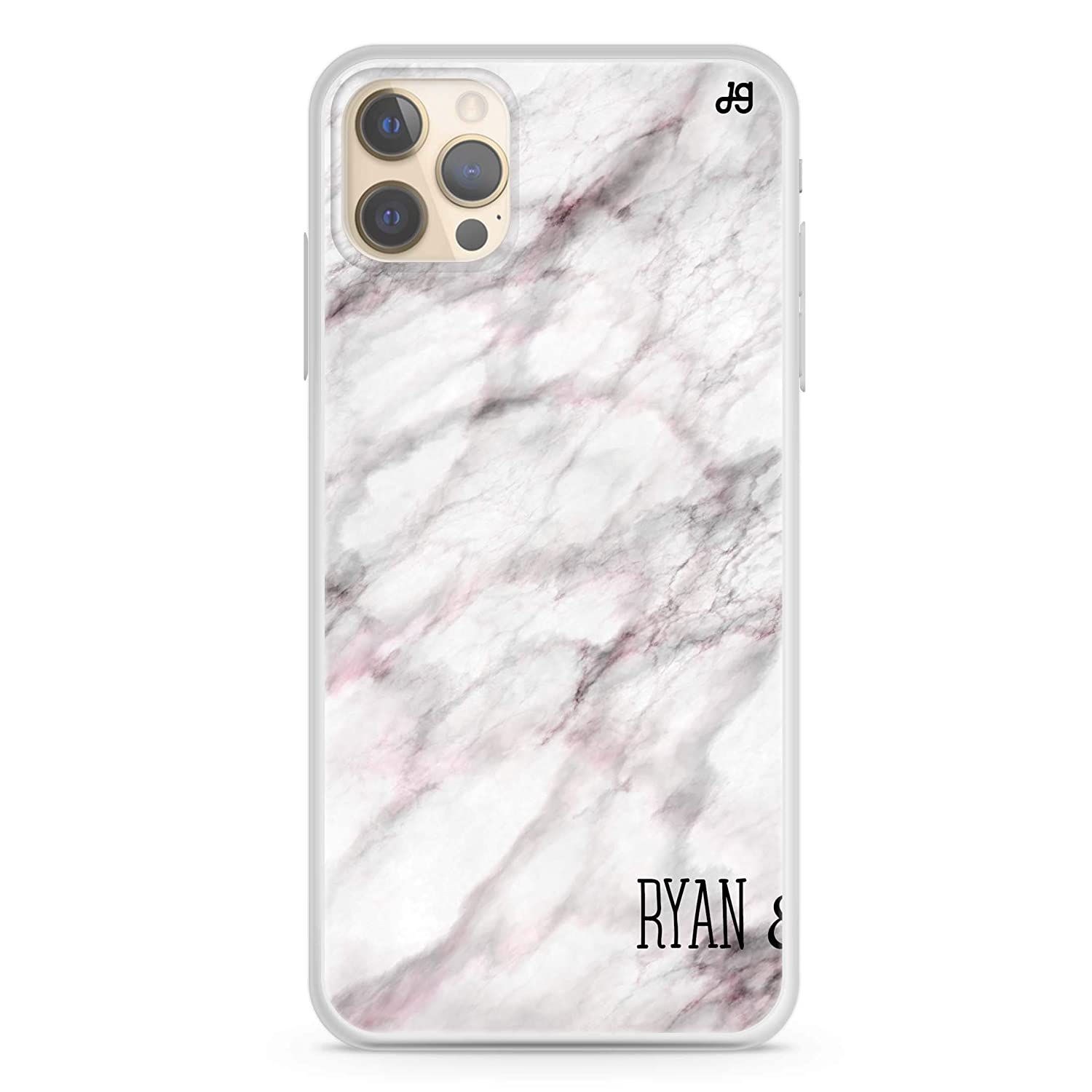 White Marble iPhone 12 Pro Daily bargain sale Soft Case Max Clear San Antonio Mall iPhon