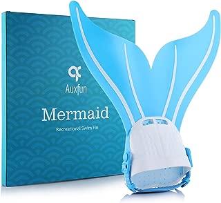 AUXFUN Mermaid Monofin, Adjustable Mermaid Swim Fin Foot Flipper for Kids Children Swimming Diving Training
