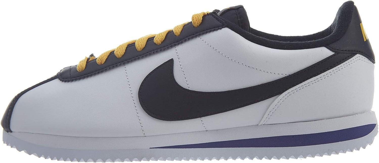 Nike Cortez Män's blå Gale  svart  Laser Fuchsia Leather Running skor