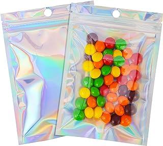100 Pcs 4×6 Inch Resealable Smell Proof Bags Mylar Ziplock Bag Cute Packaging Sealed Aluminum Foil Pouch Medium Plastic Ba...