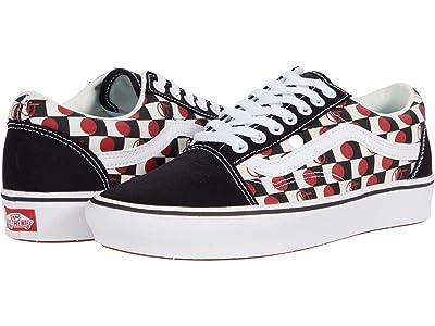 Vans Comfycush Old Skool ((Drop V Check) Black/White) Athletic Shoes