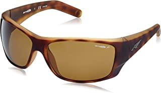 Arnette Men's Heist 2.0 0AN4215 Polarized Rectangular Sunglasses, FUZZY HAVANA, 66 mm