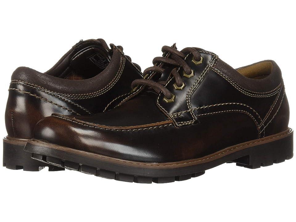 Clarks Curington Walk (Dark Brown Leather) Men