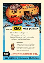 Magazine ad for Reo motors Inc of Lansing Michigan showing their powerful truck pulling Noahs ark loaded with elephants giraffes zebras and assorted animals Poster Print by unknown (24 x 36)