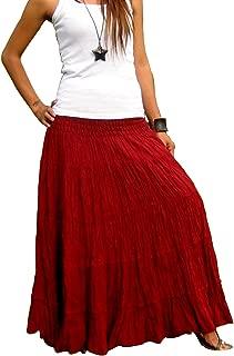 Plus Size Maxi Skirt Long Skirts for Women Handmade Tiered Skirt