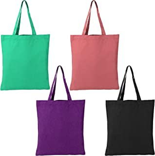 Reusable Canvas Cotton Tote Bag Large for Shopping Grocery Beach Gift Lightweight Cloth Fabric Tote for Women Men