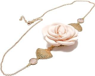 GATSBY fascia regolabile fiore fan Giappone retro fiore rosa polvere oro ottone 24k oro accessori per capelli art deco reg...