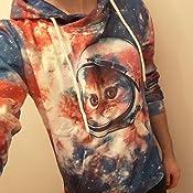 Goodstoworld Sweat-Shirt /à Capuche Homme Femme Imprim/é 3D Unisexe Color/é Drole Pull avec Doublure Polaire Chaude S-XXL