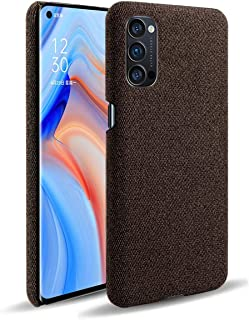 Grandcase Oppo Reno4 Pro 5G Case,Ultra-thin High Quality Felt Cloth Anti-Fingerprint Shock Absorber Protective Cover for O...
