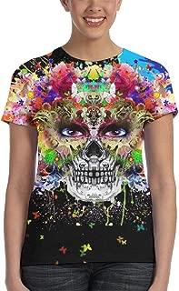 Hand Drawn Indian Skull Summer Womens Girl 3D Printed Tshirt Gifts