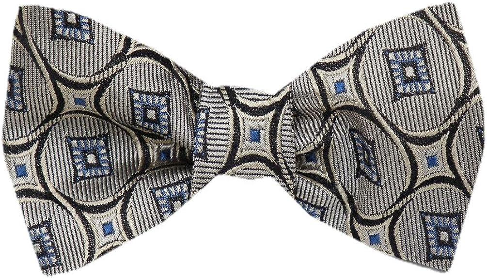 FBTZ-1303 - Men's Silk Self Tie Bowtie Tie Yourself Bow Ties