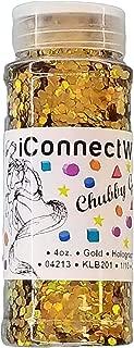 Gold, Chubby Glitter 1/10, 4oz Bottle, Holographic Glitter