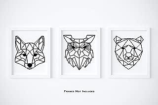 Geometric Woodland Wall Art - Set of 3-8