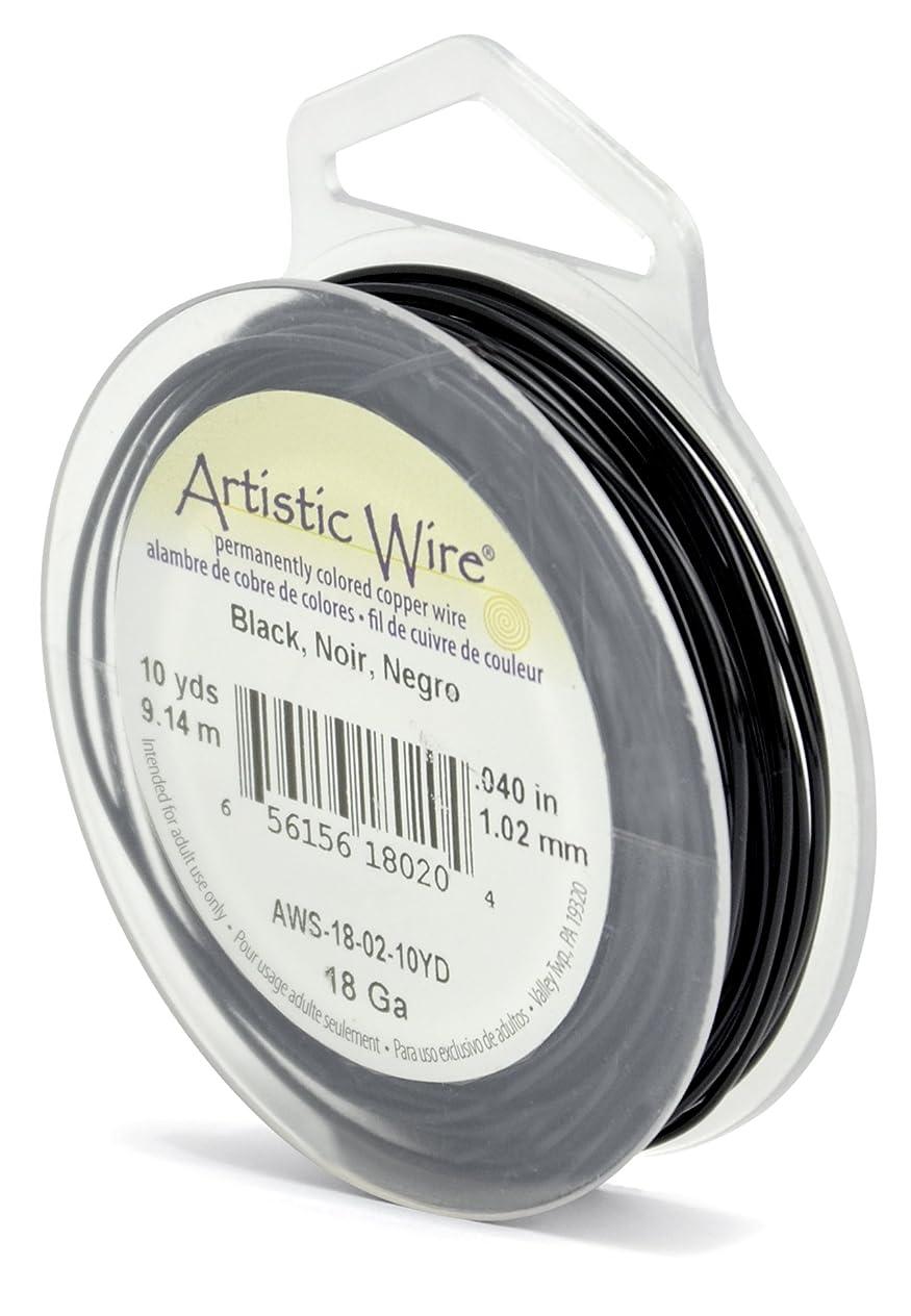 Artistic Wire 18-Gauge Black Wire, 10-Yards