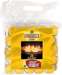 Vela perfumada de citronella en Bote de Cristal ANGOPE Velas citronela antimosquitos Color Amarillo