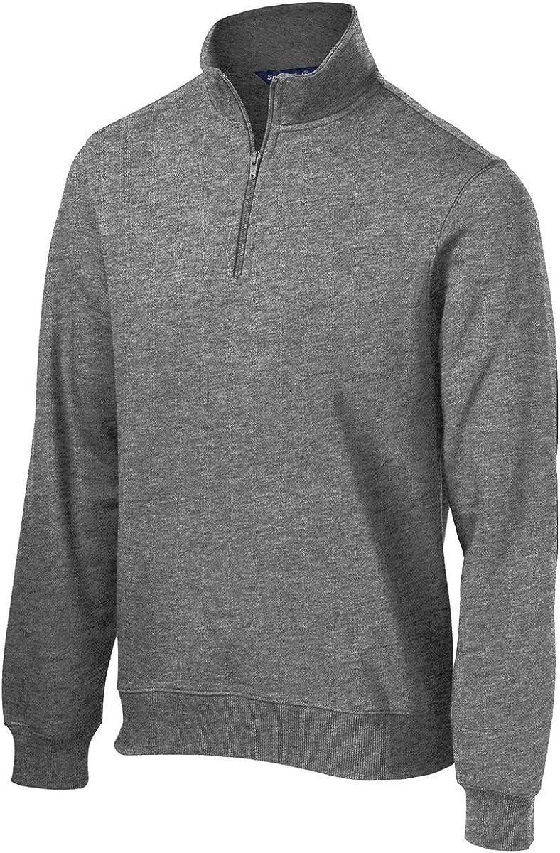 Sport-Tek Men's Big And Tall 1/4-Zip Sweatshirt_Vintage Hthr_XXXL Tall