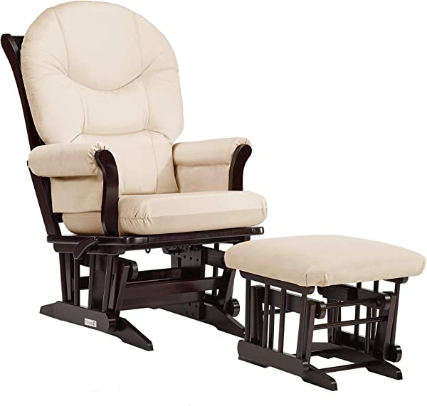Dutailier Sleigh 0373 Glider Multiposition Lock Recline With Ottoman Included