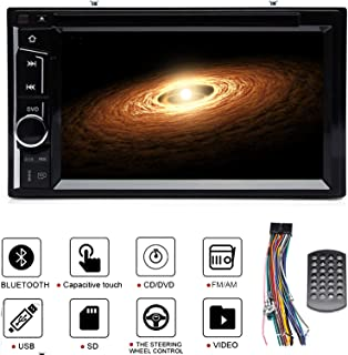 Double Din Car Radio Stereo in Dash for Ford Mustang (2005-2009), CD DVD Bluetooth Touch Screen Mirror Link Subwoofer Control SWC AM FM