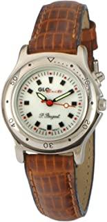 Peugeot Womens Glow in The Dark Two Tone Watch with Leather Strap