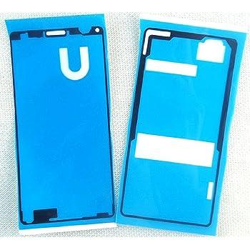 ソニー Sony Xperia Z3 Compact 修理用 粘着テープ 接着テープセット 防水テープ Teyissalia 液晶とバックパネル用 接着シール 修理パーツ 2枚セット (普通品)
