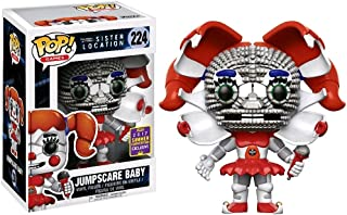 Funko Jumpscare Baby (2017 Summer Con Exclusive) POP! Games x Five Nights at Freddy's Vinyl Figure + 1 Official FNAF Trading Card Bundle (15103)