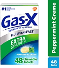 Gas-X Extra Strength Peppermint Chewable Tablet for Fast Gas Relief, 48Count