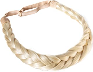 Sponsored Ad - Madison Braids Womens Braided Headband Hair Braid Natural Looking Synthetic Hair Piece Extension - Lulu Two...