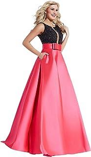 Jovani party dress-fuchsia and black color