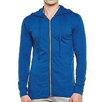 [Size M] GRITSTONES Indigo Full Sleeves Hooded Zipper Jacket