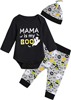 Baby Boys' Mama is My Boo Outfit Set Halloween Ghost Costume Romper