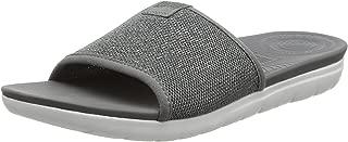 Women's FitFlop Uberknit Slide Sandals Pewter UK 4 Grey